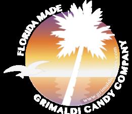 Grimaldi Candy Company white logo